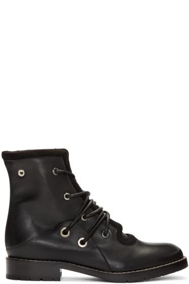 Proenza Schouler - Black Lace-Up Boots