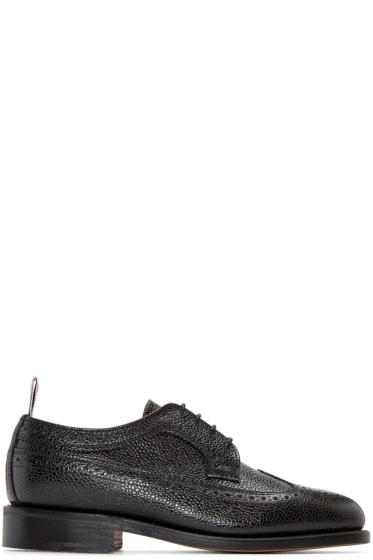 Thom Browne - Black Pebbled Leather Brogues