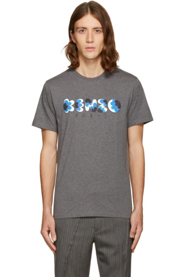 Kenzo - Grey Popcorn Logo T-Shirt