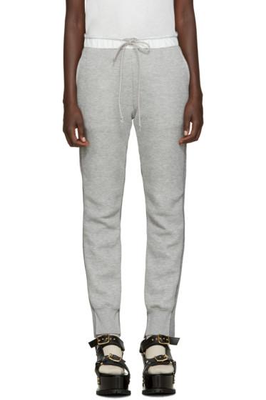 Sacai - Grey Knit Back Lounge Pants