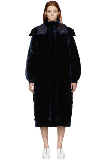 Stella McCartney - Blue Velvet Marceline Coat