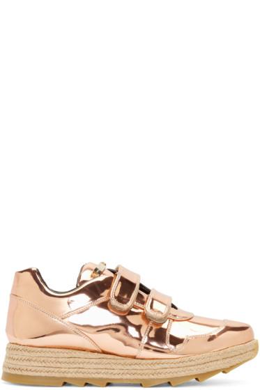 Stella McCartney - Copper Velcro Macy Sneakers