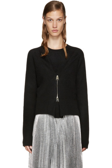 J.W.Anderson - Black Zip-Front Sweater