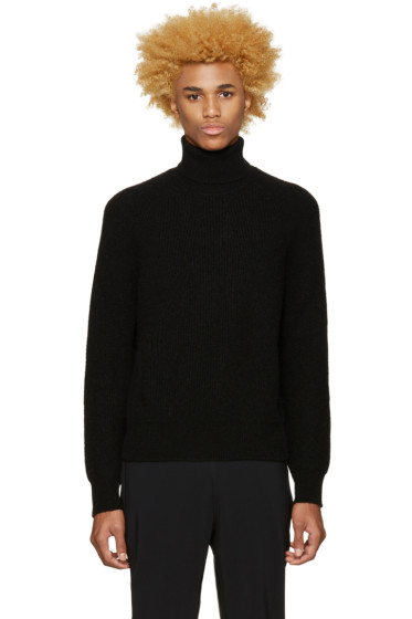 Calvin Klein Collection - Black Camel Hair Turtleneck