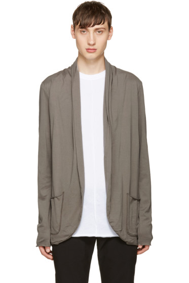 Attachment - Grey Draped Jersey Cardigan
