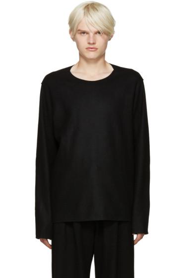 Attachment - Black Raw Edge Sweater