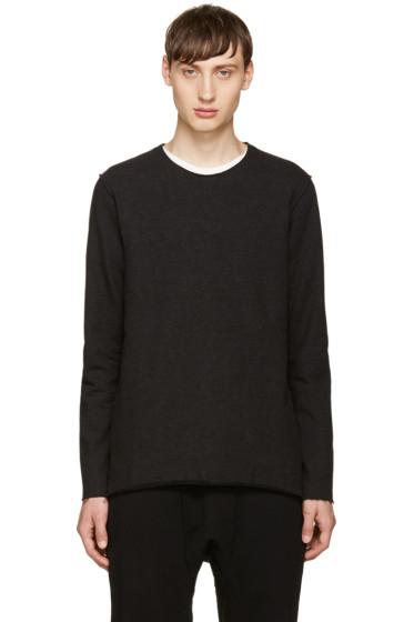 Attachment - Black Raw Edges Sweatshirt