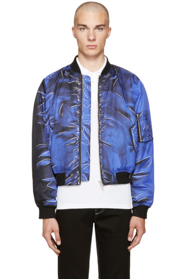 Moschino - Blue Drawing Bomber Jacket