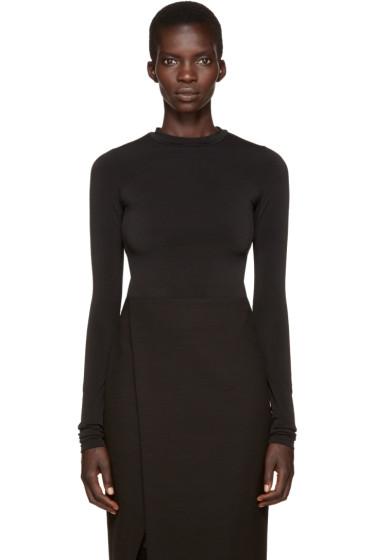 Protagonist - Black Extended Sleeve Bodysuit