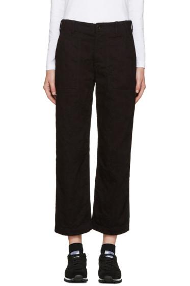 Tricot Comme des Garçons - Black Jacquard Denim Trousers