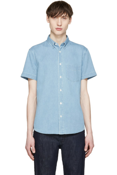 Acne Studios - Blue Denim Superbleach Isherwood Shirt