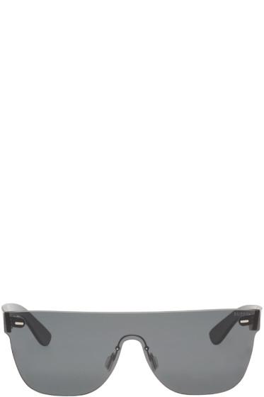 Super - Black Tuttolente Flat Top Sunglasses