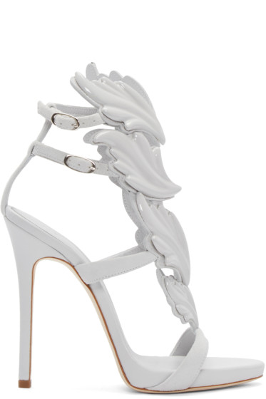 Giuseppe Zanotti - Grey Suede Cruel Sandals