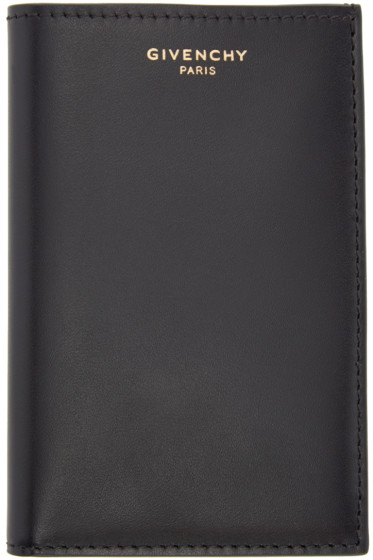 Givenchy - Black Leather Logo Card Holder