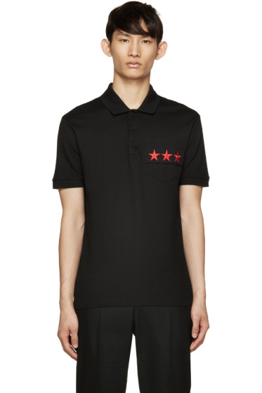 Givenchy - Black Star Pocket Polo