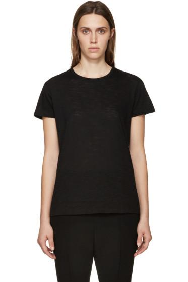 Proenza Schouler - Black Slub Cotton T-Shirt