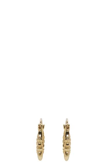 Pamela Love - Gold Tribal Spike Hoop Earrings