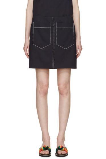 Chloé - Navy Double-Pocket Miniskirt