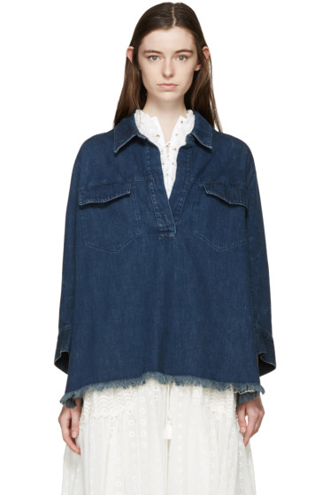 Chloé - Indigo Denim Blouse