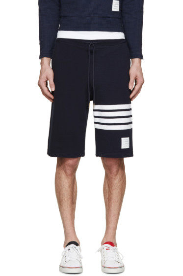 Thom Browne - Navy Striped Shorts