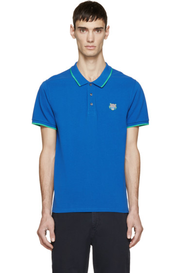 Kenzo - Blue Tiger Crest Polo