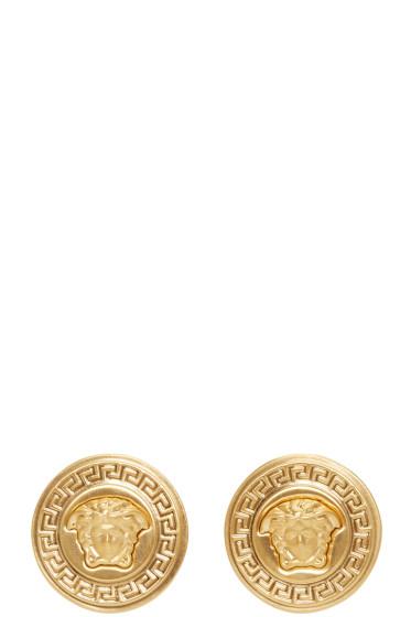 Versace - Gold Medusa Medallion Earrings