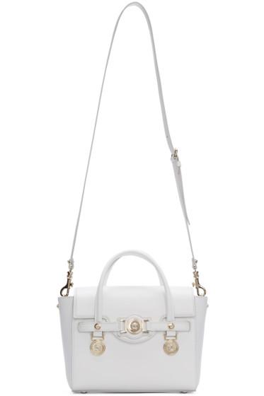 Versace - White Leather Medusa Medallion Satchel
