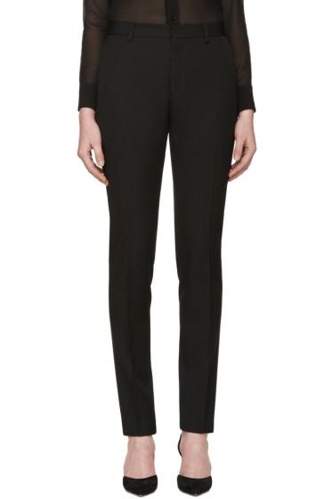 Saint Laurent - Black Classic Wool Trousers