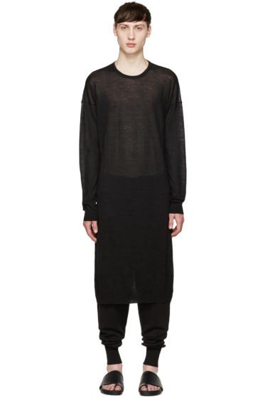 Thamanyah - Black Cashmere Long Sweater