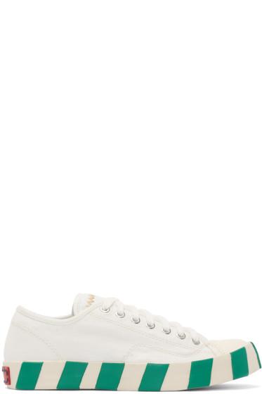 Visvim - White Skagway Lo Stripes Sneakers