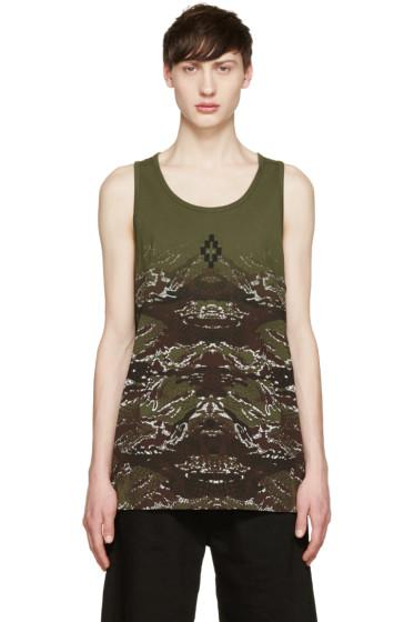 Marcelo Burlon County of Milan - Green Camouflage Snake Banes Tank Top