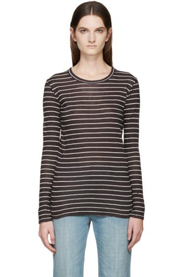 Isabel Marant Etoile - Black & White Striped Karon T-Shirt