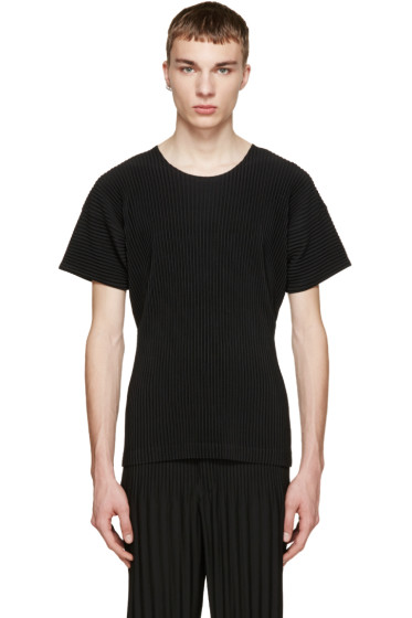 Homme Plissé Issey Miyake - Black Pleated T-Shirt