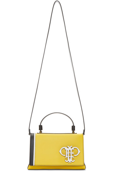 Emilio Pucci - Yellow Colorblocked Convertible Bag