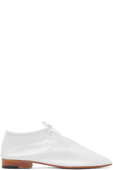 Martiniano - White Leather Bootie Oxfords