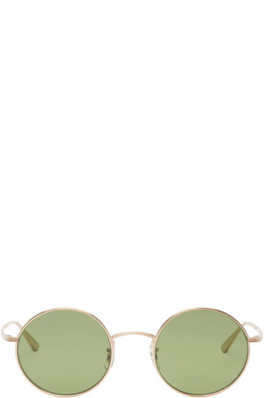 Oliver Peoples The Row - Gold Round After Midnight Sunglasses