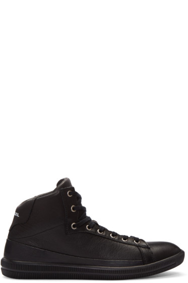 Diesel - Black S-Naptik Mid-Top Sneakers