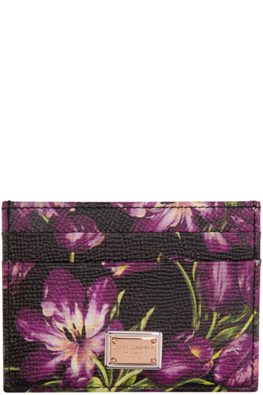 Dolce & Gabbana - Black Tulip Card Holder