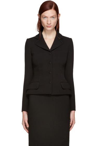 Dolce & Gabbana - Black Fitted Wool Blazer