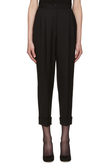 Dolce & Gabbana - Black High-Rise Trousers