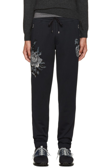 Dolce & Gabbana - Navy Flowers Lounge Pants