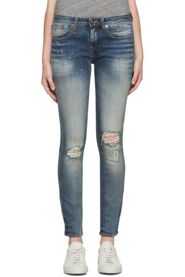 R13 - Indigo Alison Crop Jeans