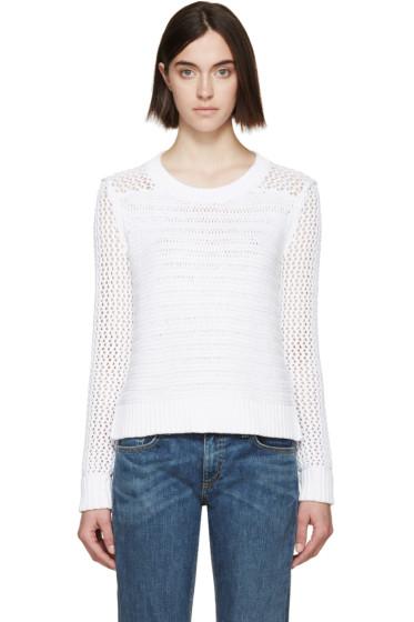 Rag & Bone - White Knit Annie Sweater