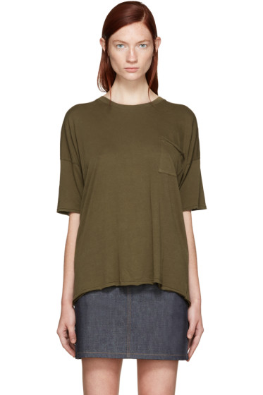 Rag & Bone - Green The Big T-Shirt