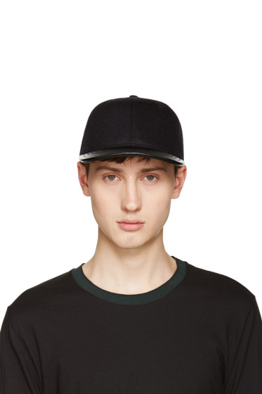 Rag & Bone - Black Wool & Leather Cap