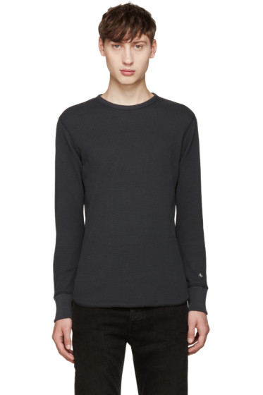 Rag & Bone - Grey Standard Issue Waffle T-Shirt