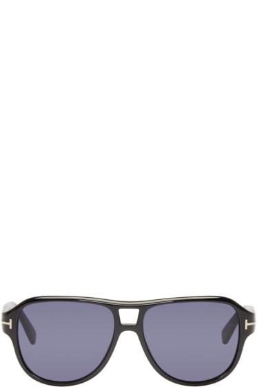 Tom Ford - Black Dylan Aviator Sunglasses