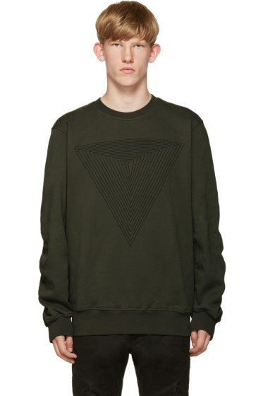 Public School - Green Stoma Triangle Sweatshirt