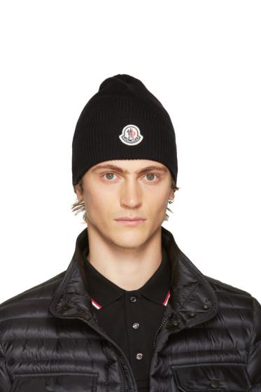 Moncler - Black Wool Logo Beanie
