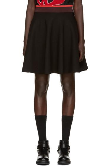 McQ Alexander Mcqueen - Black Flared Miniskirt